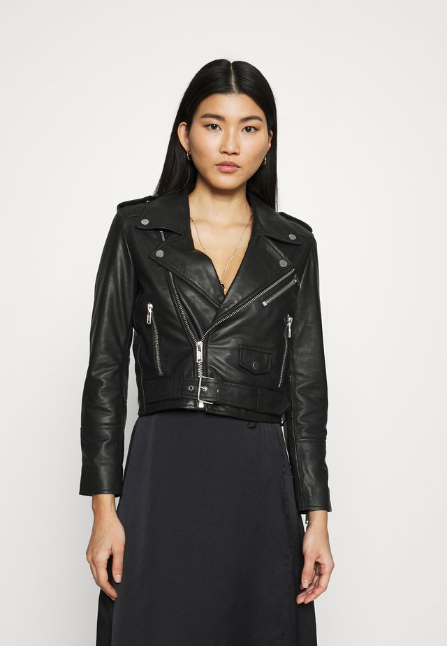 JOAN JACKET - Leather jacket - black