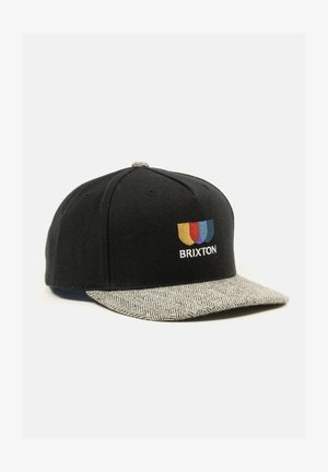 ALTON  - Cap - black / white herringbone