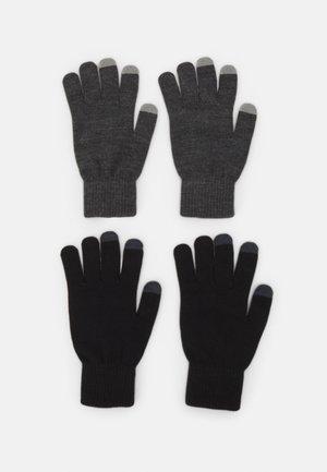 2 PACK - Gloves - black/grey
