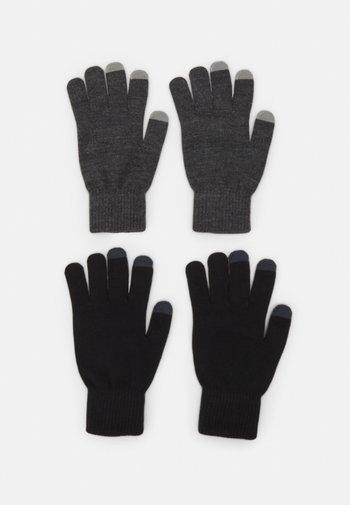 2 PACK - Rękawiczki pięciopalcowe - black/grey