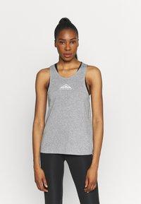 Nike Performance - CITY SLEEK TANK TRAIL - Sports shirt - dark grey heather/silver - 0