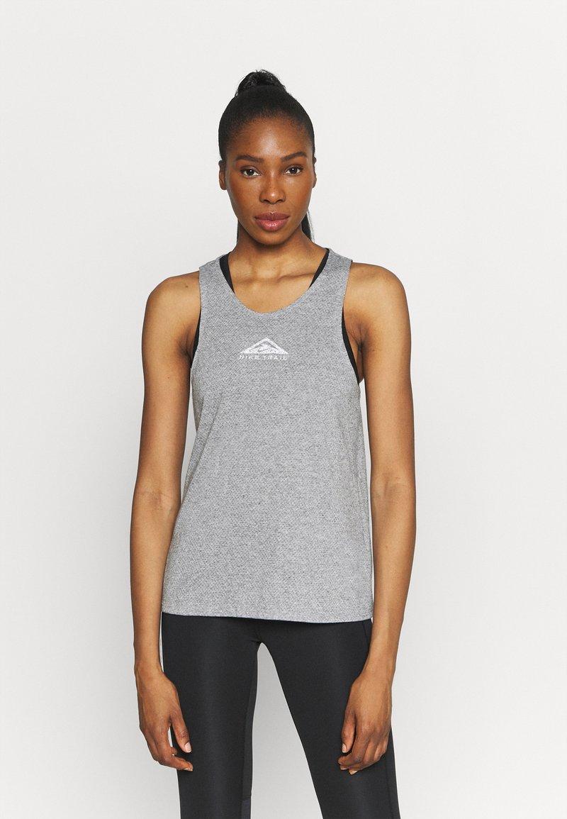 Nike Performance - CITY SLEEK TANK TRAIL - Sports shirt - dark grey heather/silver