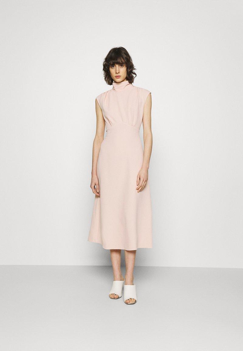 Closet - HIGH NECK MIDI A-LINEDRESS - Day dress - blush