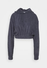 CROPPED HOODIE - Jersey con capucha - navy