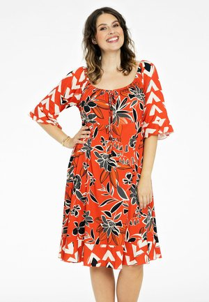 FLORAL PRINT - Day dress - rot