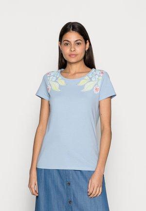Print T-shirt - stonington blue