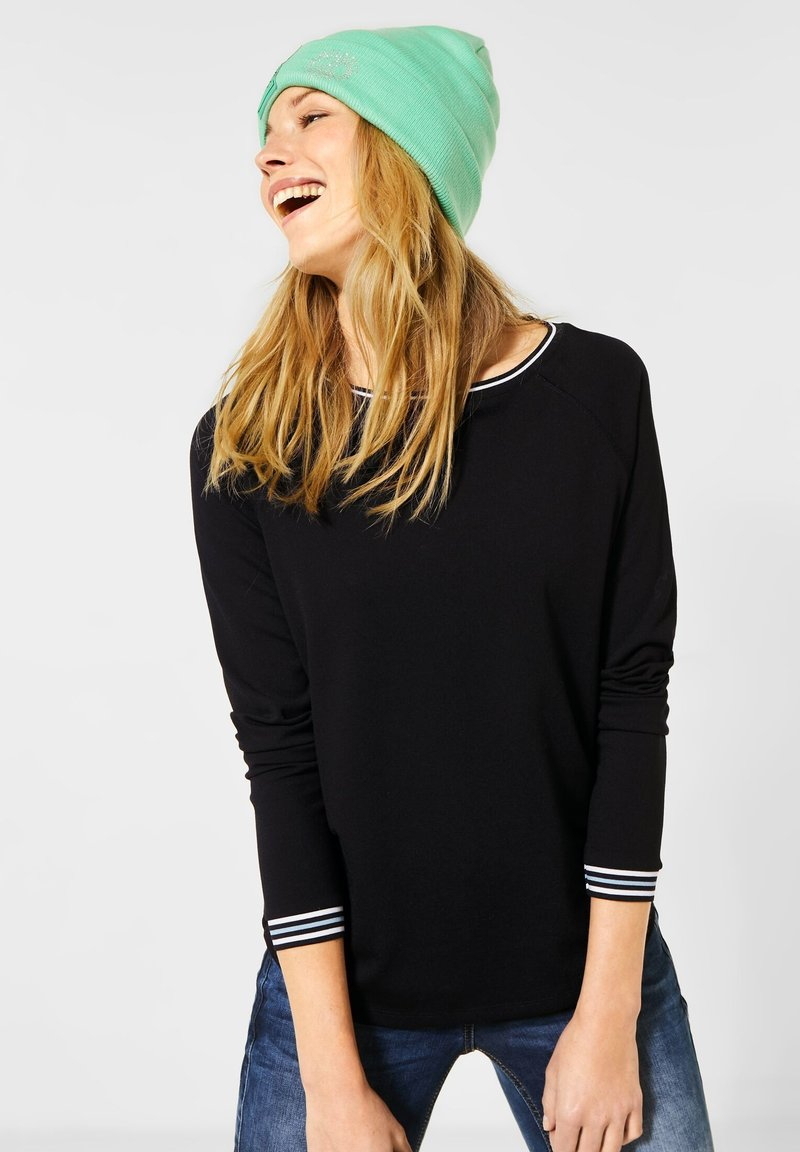 Cecil - Long sleeved top - schwarz