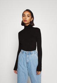 Anna Field Petite - Stickad tröja - black - 0