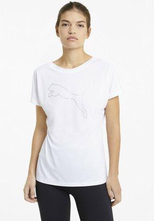 TRAIN FAVORITE CAT - Print T-shirt - white