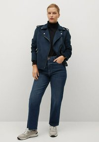 Violeta by Mango - SEUL8 - Faux leather jacket - bleu marine - 1