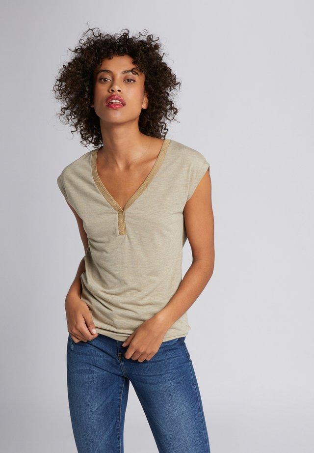 T-shirt con stampa - dark brown