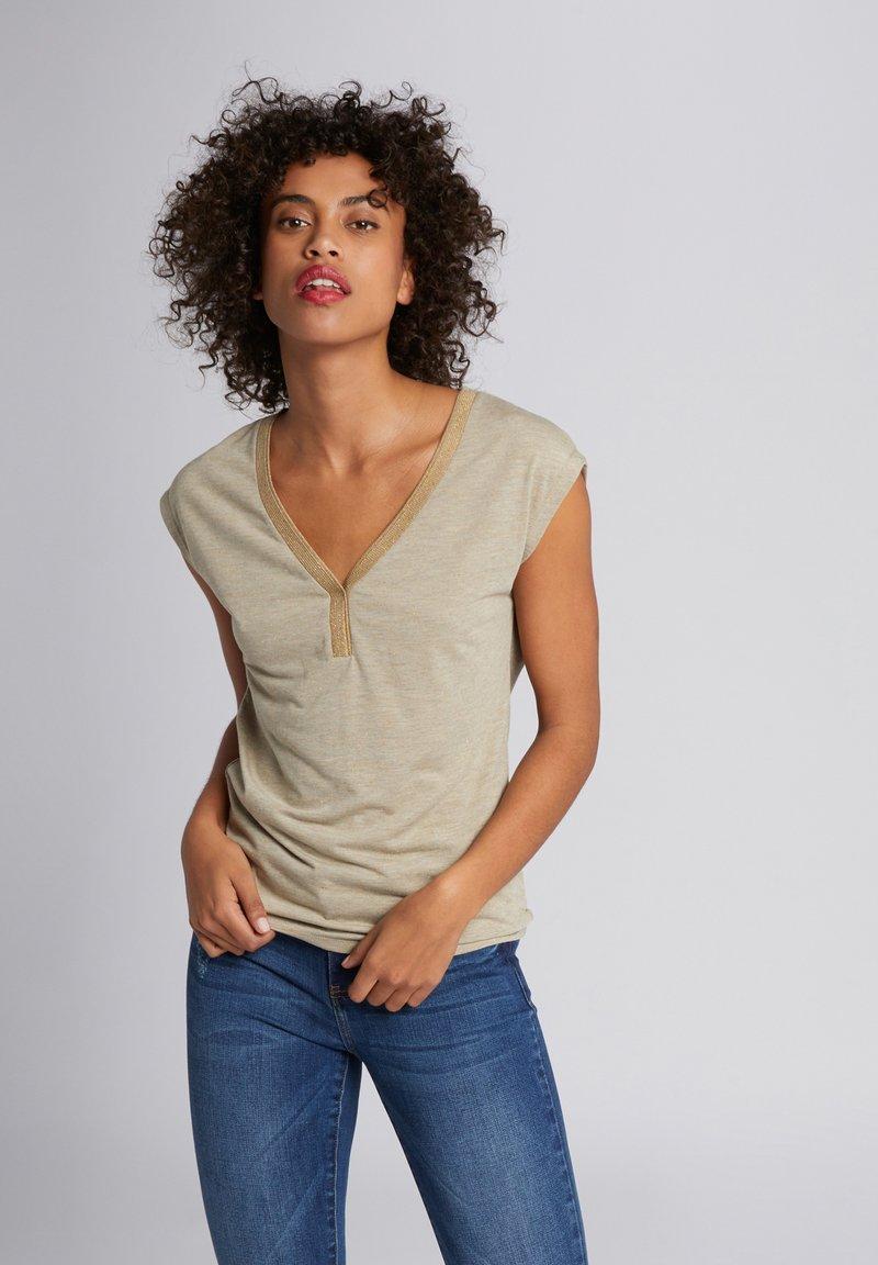 Morgan - Print T-shirt - dark brown