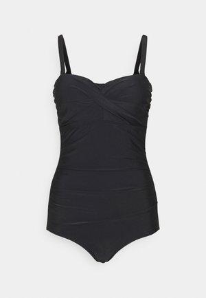 SANTA MONICA STRAPLESS CONTROL SWIMSUIT - Swimsuit - black