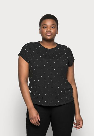VMMARLIEAVA WIDE TOP - Print T-shirt - black/marlie dot