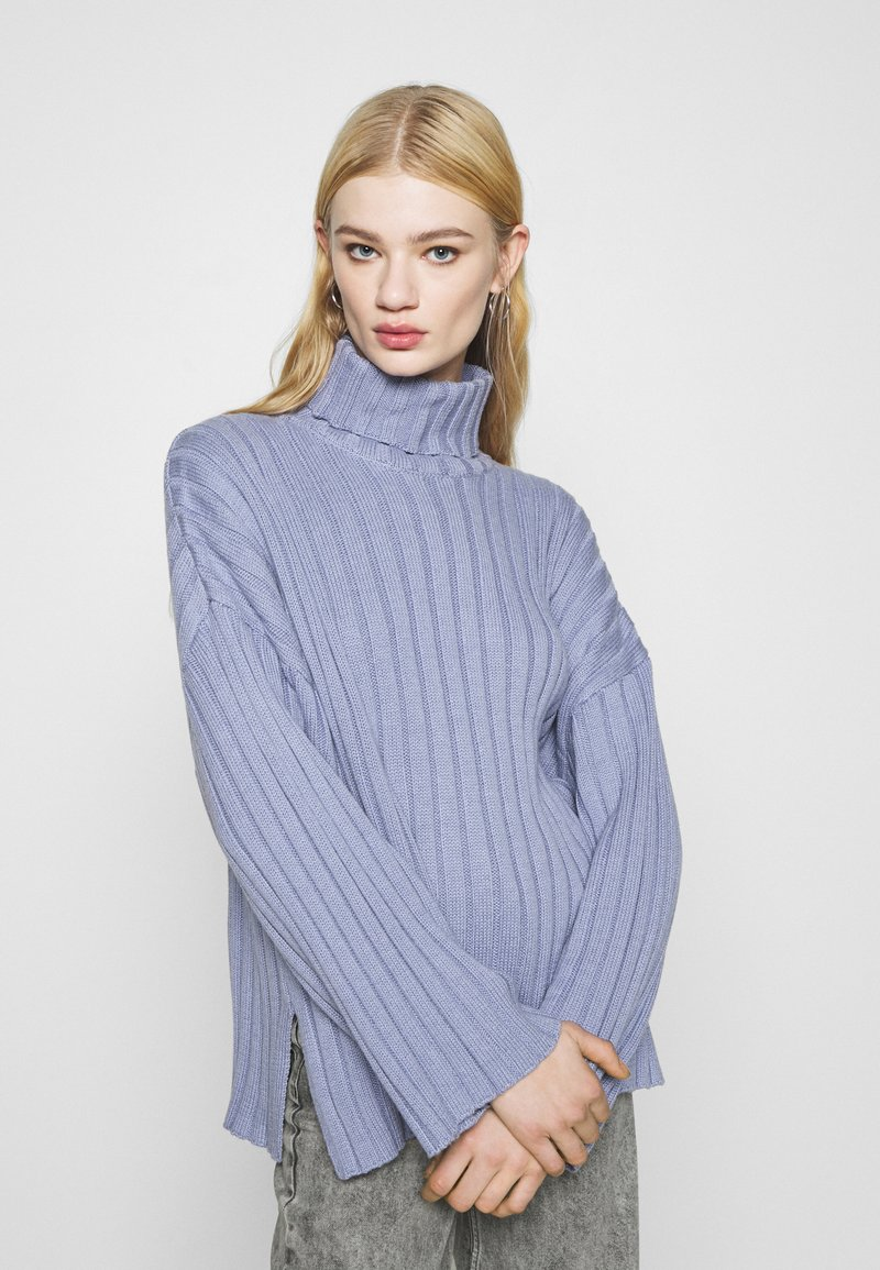 Monki - DONNIE  - Jumper - blue dusty solid