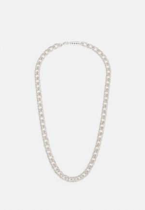 DECO NUANCE DOUBLE CURB CHAIN NECKLACE - Necklace - silver-coloured