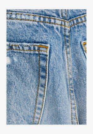MIT RISSEN - Denim shorts - blue denim
