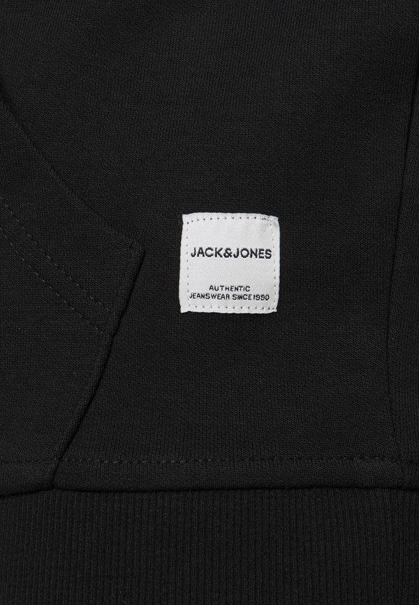 Jack & Jones JJEBASIC HOOD - Bluza - black/czarny Odzież Męska FTLC