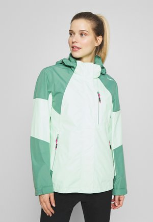 WOMAN JACKET ZIP HOOD - Waterproof jacket - leaf