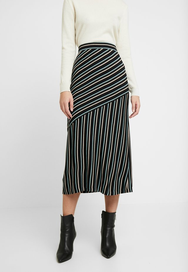 STRIPED - Falda de tubo - art black