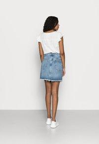 Even&Odd Petite - DENIM SKIRT - Denim skirt - light blue denim - 2