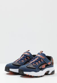 Skechers - STAMINA - Sneakers - navy/black/charcoal/orange - 3
