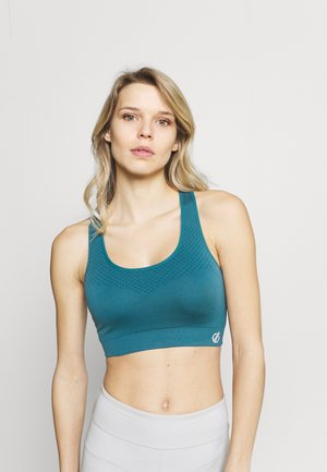 DONT SWEAT IT - Medium support sports bra - petrol
