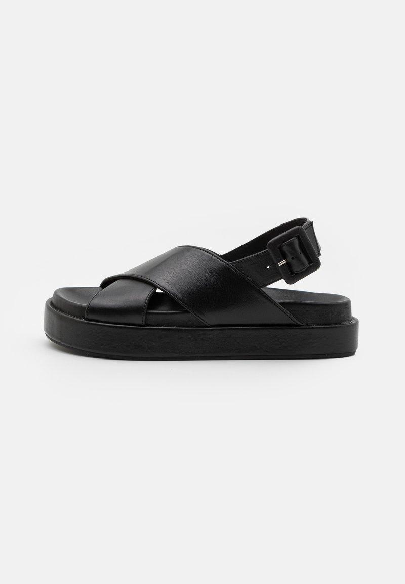 ASRA - PIPPY - Korkeakorkoiset sandaalit - black