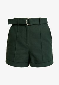 BUCKLE BELTED - Shorts - khaki
