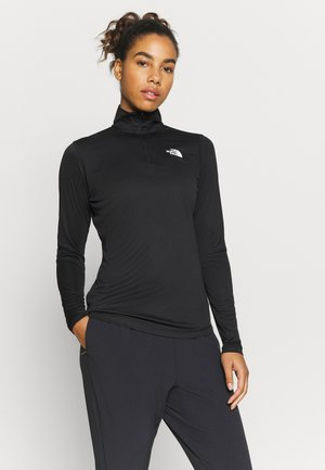 FLEX 1/4 ZIP - Long sleeved top - black