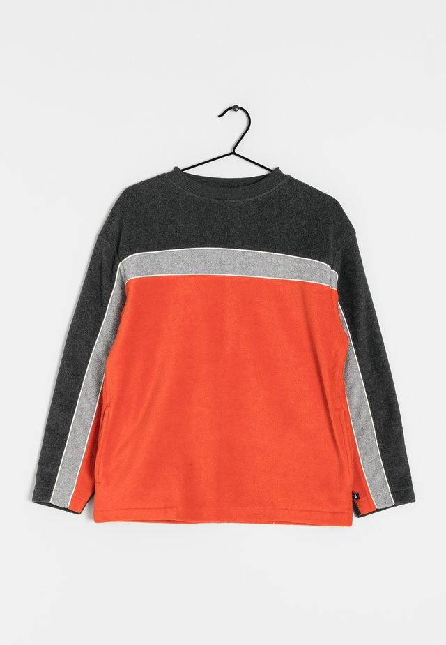 Fleece trui - orange / grey