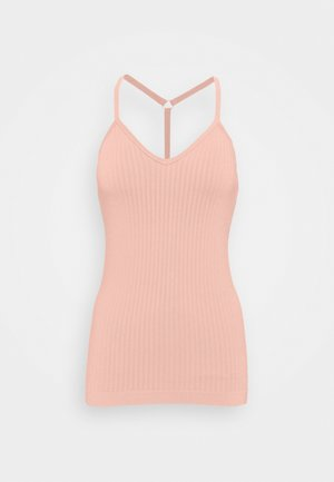 MINDFUL  SEAMLESS YOGA VEST - Top - misty rose pink
