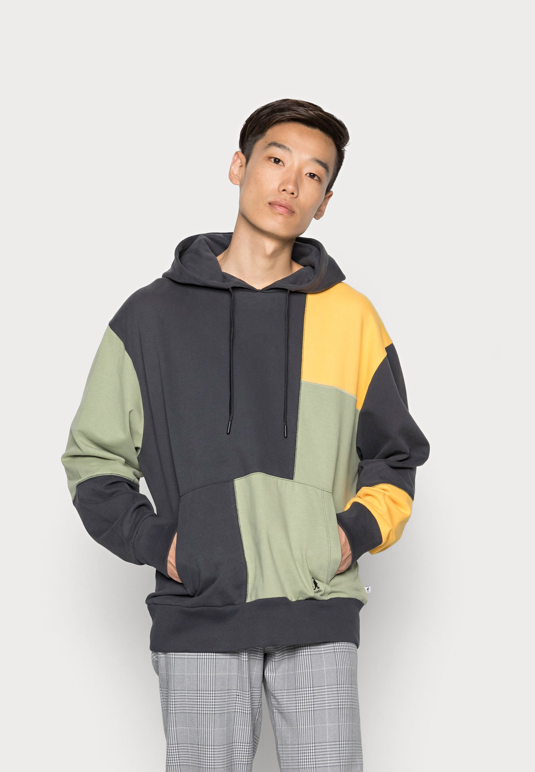 Herren MANHATTEN PATCHWORK HOODY - Sweatshirt