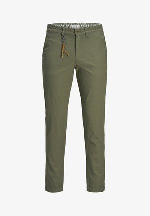 CHINO ACE LINEN AKM 986 - Pantalones - olive night