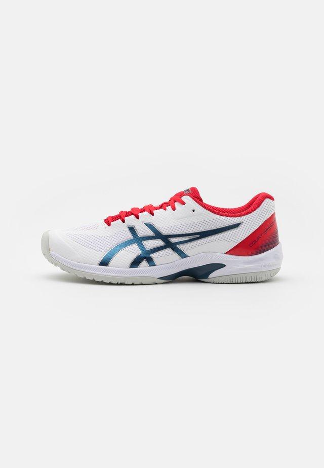 COURT SPEED FF - Multicourt tennis shoes - white/mako blue