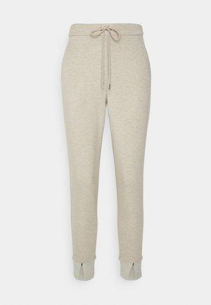 SLOUCHY JOGGER - Pantaloni sportivi - oatmeal/charcoal melange