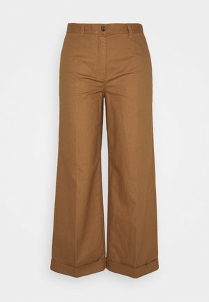 SANDA - Trousers - deep tobacco