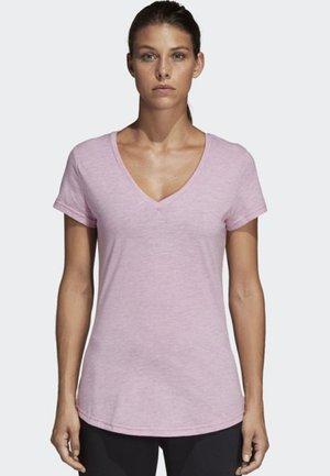 ID Winners V-Neck Tee - Print T-shirt - pink