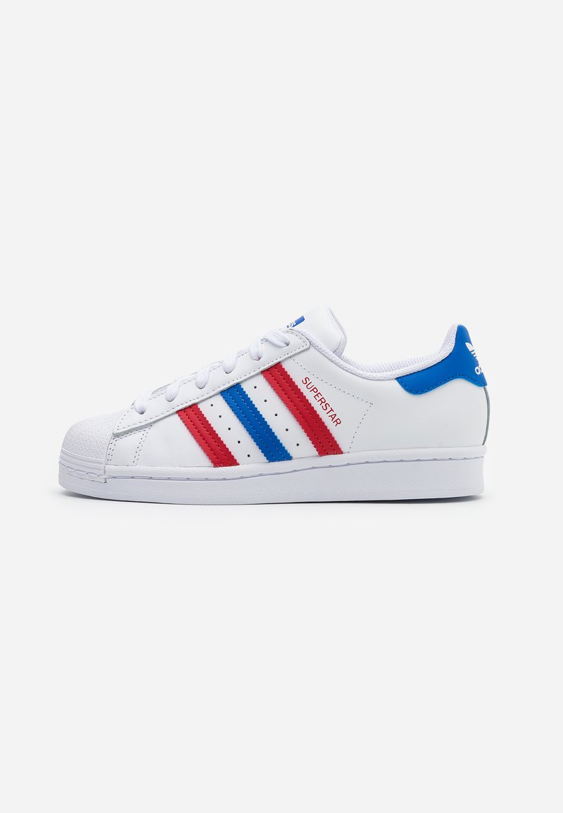 adidas Originals - SUPERSTAR SPORTS INSPIRED SHOES UNISEX - Trainers - footwear white/blue/scarlet