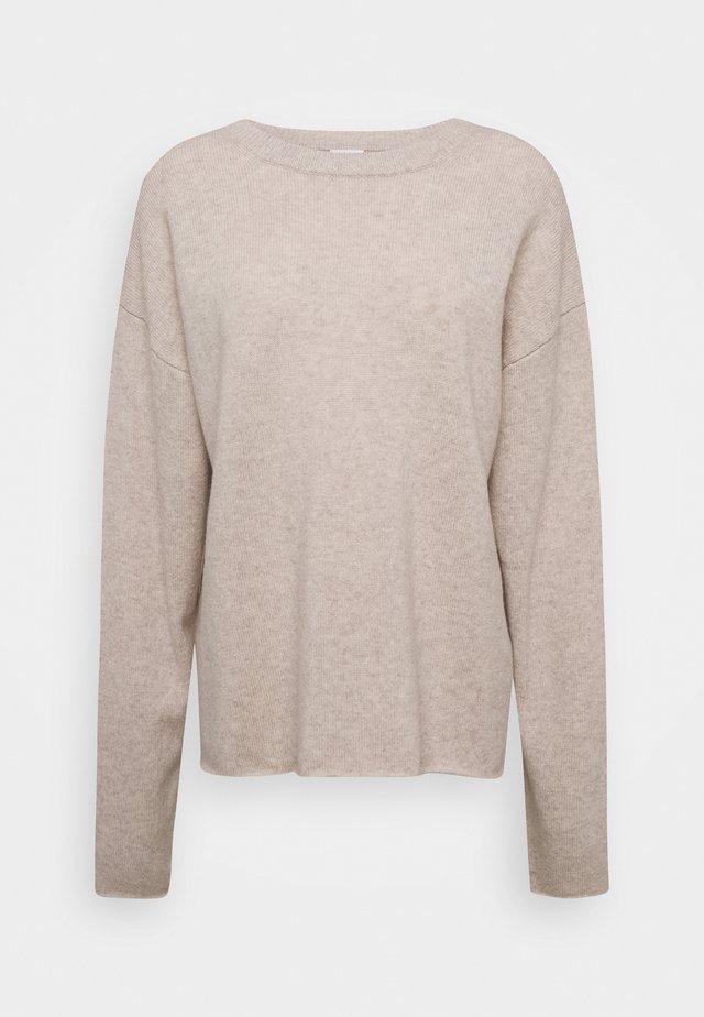 LINA - Stickad tröja - sand beige