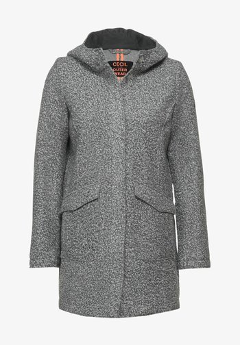IN FAKE WOLLE - Short coat - grau