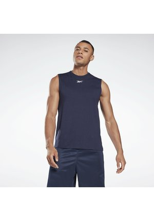 WORKOUT READY MESH SLEEVELESS T-SHIRT - Débardeur - blue