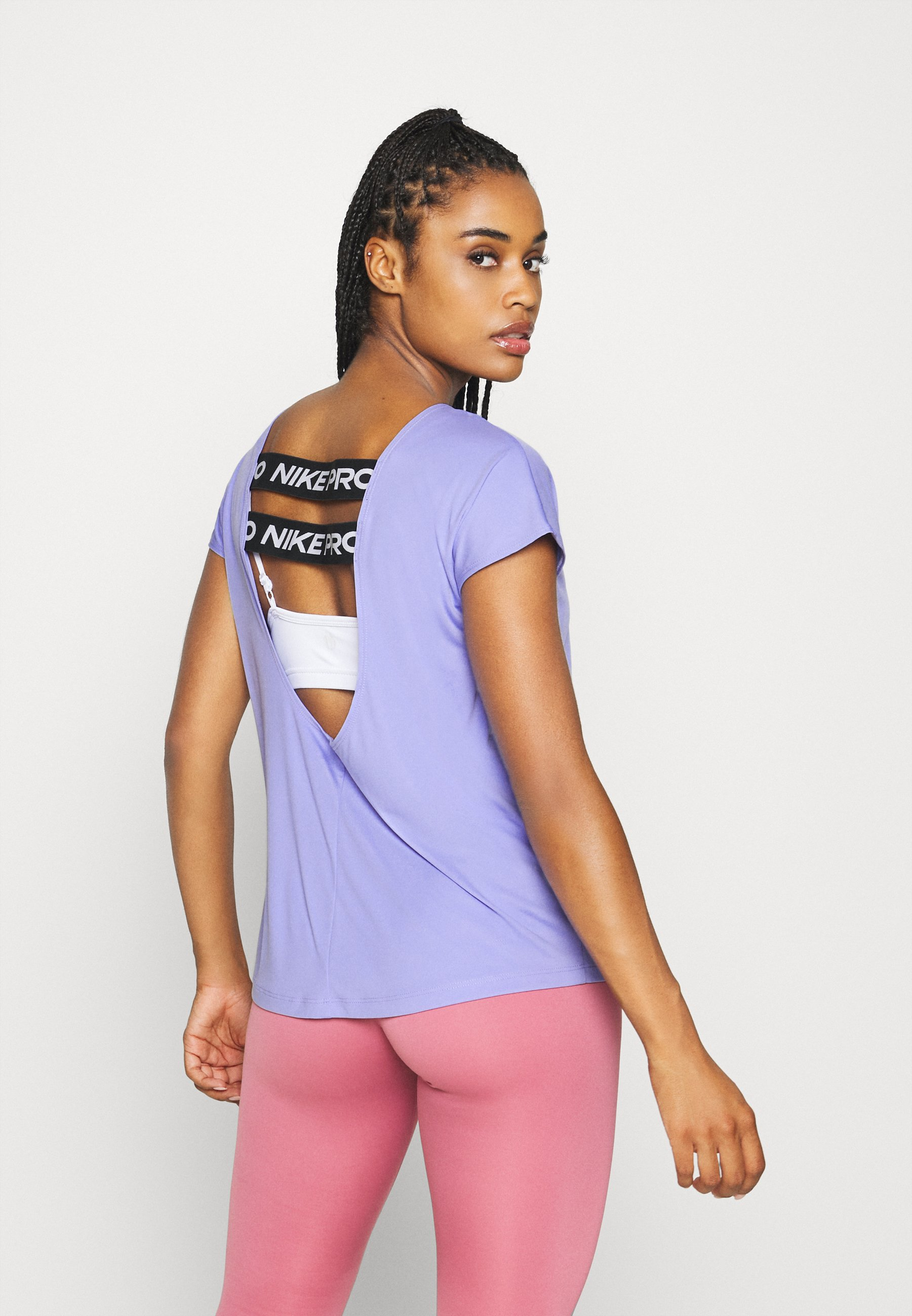 Nike Performance DRY ELASTIKA - Sports shirt - light thistle/black/white 5zlhu