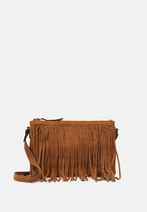 CROSSBODY BAG FINGERS - Schoudertas - camel