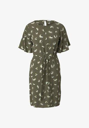 MIT BINDEGÜRTEL - Day dress - khaki