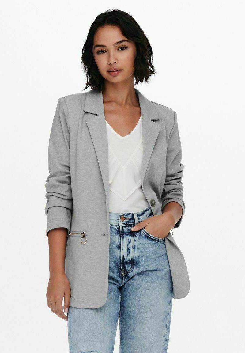 ONLY - KLASSISCH - Short coat - light grey melange