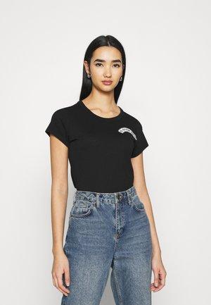 ARCH LOGO SLIM - Print T-shirt - dk black