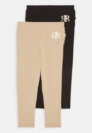 2 PACK - Leggings - Trousers - camel