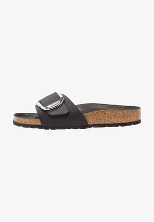 MADRID BIG BUCKLE - Pantofole - black