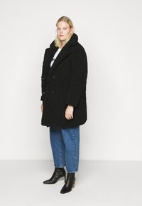 Noisy May Curve - NMGABI JACKET - Classic coat - black - 1